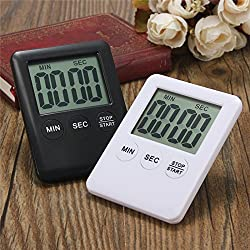 LussoLiv Electronic Digital LCD Magnetic Countdown Timer Count Down Egg Kitchen Cooking Tools