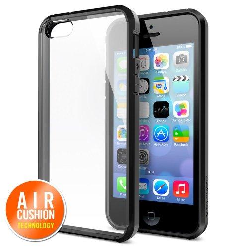 【国内正規品】SPIGEN SGP iPhone 5s/5 ケース ウルトラ・ハイブリッド(エコパッケージ) (ブラック【SGP10515】)