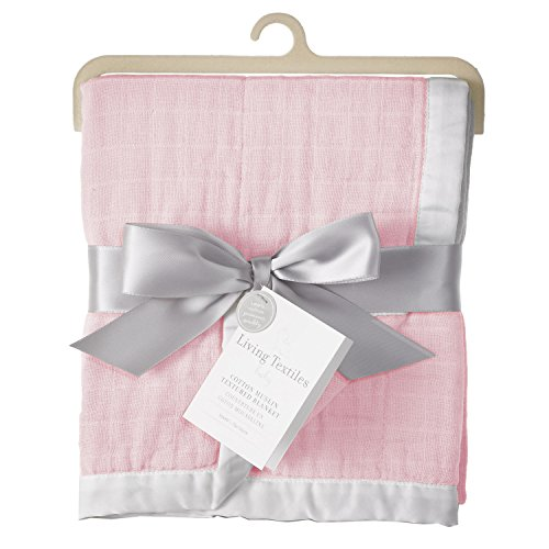 Living Textiles Muslin Textured Blanket, Pink (Discontinued by Manufacturer)