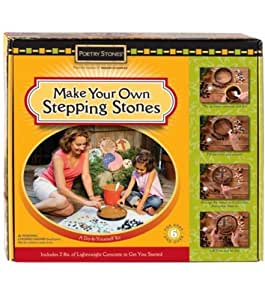 Make Your Own Stepping Stones Kit Patio Lawn Garden