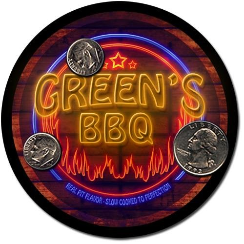 Green'S Barbeque Drink Coasters - 4 Pack