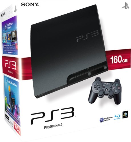 sony-playstation-3-160gb-slim-console-with-dualshock-wireless-controller