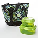 Anna Quilted Lunch Bag Kit with Sandwich & Side Containers