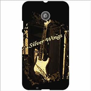 Moto E (2nd Gen) 4G Back Cover - Silver Wings Designer Cases