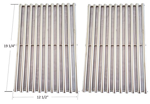 BBQ funland GSS612 NEW Stainless Steel Cooking Grid Replacement for Select Gas Grill Models By Brinkmann, Charmglow, Turbo, Set of 2 (Turbo Sts Grill Parts compare prices)
