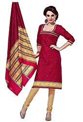 AMP IMPEXEthnicwear Women's Dress Material Red_Free Size