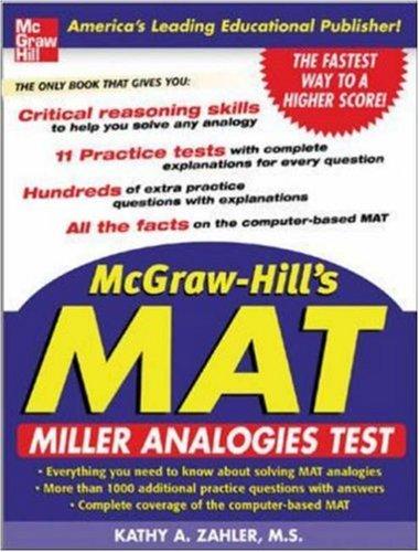 McGraw-HIll's MAT: Miller Analogies Test