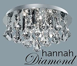 Marco Tielle Hannah Diamond 4 Light Ceiling Chandelier in Chrome Clear by Marco Tielle