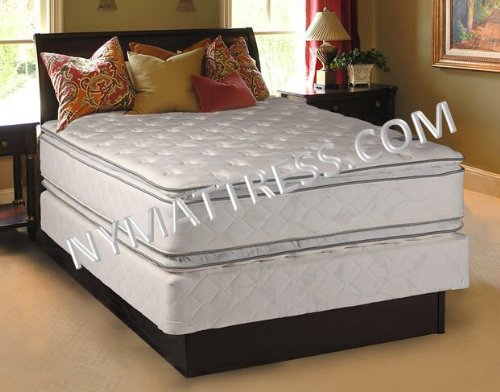 Princess Dream Plush Pillow Top Full Size Mattress And Box Spring Set front-971097