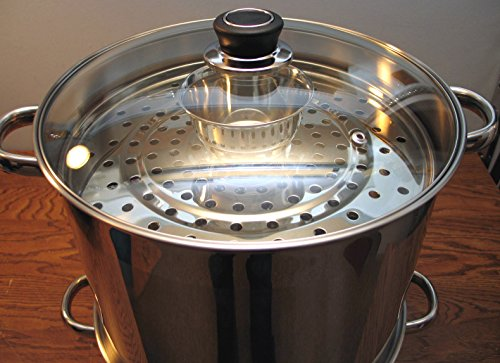 Uzbek 5 Tier / Level 18 qt. 18/10 Stainless Steel Steamer, Cooker, Warmer for Dumplings, Mantovarka, Manti