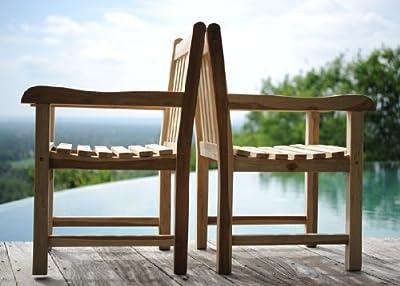 XXS® Möbel Garten Sessel Caracas hochwertiges Teak Holz bequeme Armlehnen geschliffene Oberfläche natürliches Design pflegeleicht Lager Paketversand von XXS® - Gartenmöbel von Du und Dein Garten