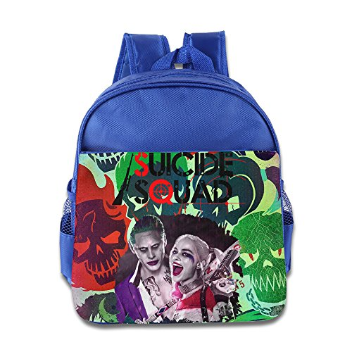 WXIANGL Kid's Suicide Squad Joker And Harley Quinn School Backpacks/Bags For Unisex RoyalBlue