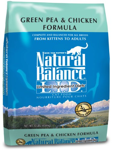 Natural Balance Limited Ingredient Diets Green Pea & Chicken Dry Cat Formula