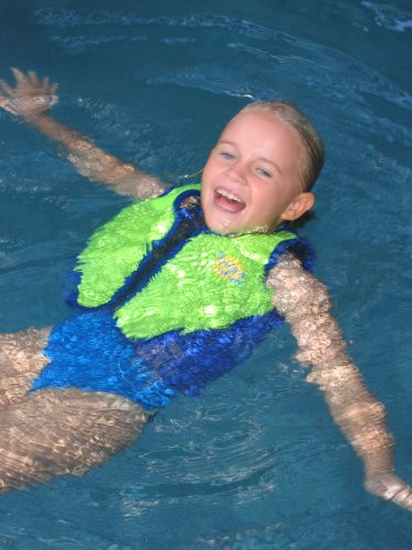 Splash About - Neoprene Float Jacket with adjustable buoyancy, Lime & Royal Blue, Small Adult 32