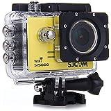 SJCAM SJ5000 WiFi cámara deportiva action camara Novatek 96.655 14MP 1080P 170 ° de la lente de 2.0 pulgadas impermeable DVR HD coche de la videocámara (Amarillo)