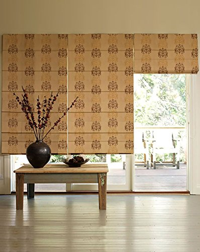 PRESTO BAZAAR 1 Piece Polyester Floral Blind - Brown