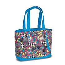 High Sierra Shelby Tote, Blue Pattern, 16x14x5-Inch
