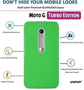 Unistuff™ Matte Finish Hard Case Back Cover for Motorola Moto G Turbo (Green)