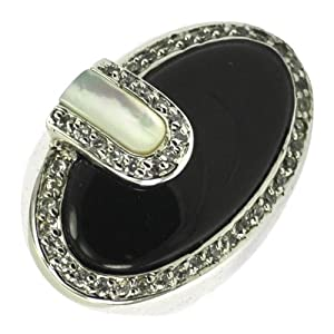 Black Onyx & Mother of Pearl Ring