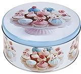 """Vorratsdose Blechdose Keksdose """"Pastel Sweets"""" rund 17x8cm Cupcake-Motiv"""