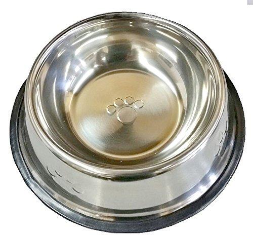 2367-Magnet-Pfoten-Edelstahl-Hunde-oder-Katzen-Wassernapf-Futternapf-mit-Tatzen-Pftchen-drauf-ca-700-ml