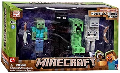 Minecraft Figure 4-pack Hostile Mobs by Jazwares Toys
