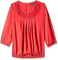 Harpa Women's Body Blouse Shirt (GR3158-CORAL_S)