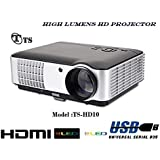 TS HD LED Projector For Business,Education,Office & Home Cinema Solutions.3000 Lumens,Lamp Life 50'000hrs,Max Screen Size 250inch Etc.