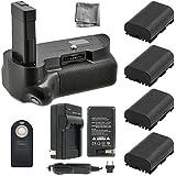 Battery Grip Bundle F/ Nikon D5500: Includes Vertical Battery Grip 4-Pk EN-EL14 Long-Life Batteries Charger More
