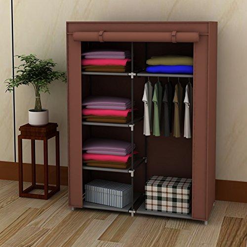 elegant-42-portable-home-wardrobe-storage-closet-organizer-rack-with-shelves-brown