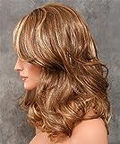 KeeWig Fashion Synthetic Wig Medium Wavy Brown KITTY #FH623