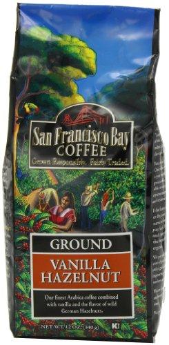 San Francisco Bay Coffee Ground, Vanilla Hazelnut, 12 Ounce
