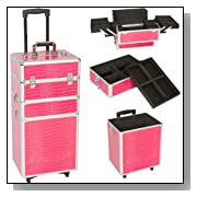 Seya 3 in 1 Professional Rolling Cosmetic Makeup Train Case Wheeled Organizer - 29 Inch