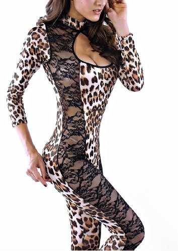 Blooms Lion Leopard or Catwoman Lace Cosplay Clubwear Costumes