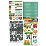 Simple Stories Snatp! Stickers, 4 by 6-Inch, Travel, 4 Per Package