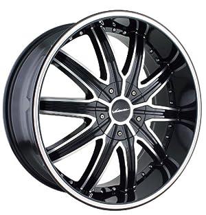22×9.5 Veloche Tork (995) (Black w/ Machined Face & Ring) Wheels/Rims 5×115/127 (995-22917B)