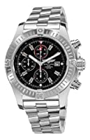 Breitling Men's A1337011/B907 Super Avenger Black Chronograph Dial Watch by Breitling