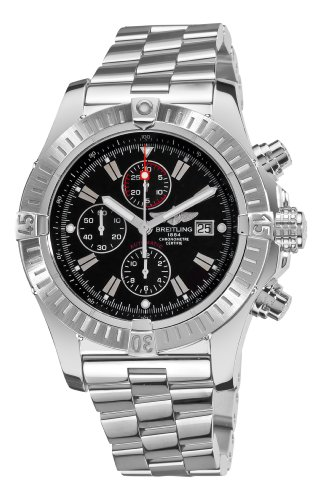 Breitling Men's A1337011/B907 Super Avenger New Black Chronograph Dial Watch