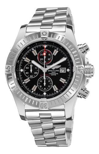 Breitling Men's A1337011/B907 Super Avenger New Black Chronograph Dial Watch