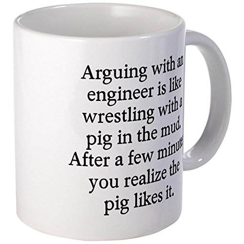 Cafepress Arguing Engineer Mug - S White