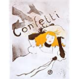 Confetti, by Henri de Toulouse-Lautrec (Print On Demand)