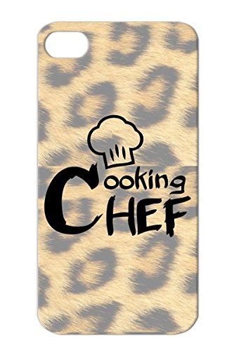 Chef Black Toque Knife Fork Cook Kitchen Cook Cutlery Careers Professions Cuisine Chef Cooking Spoon Case Cover For Iphone 4S