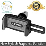 Car Mount, Levin Push-In Universal Air Vent Cell Phone Car Holder 360 Degree Rotation for iPhone, Samsung, GPS Holder