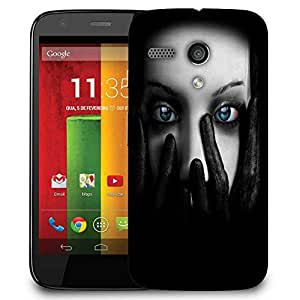 Snoogg Lady Eyes Designer Protective Phone Back Case Cover For Motorola G / Moto G