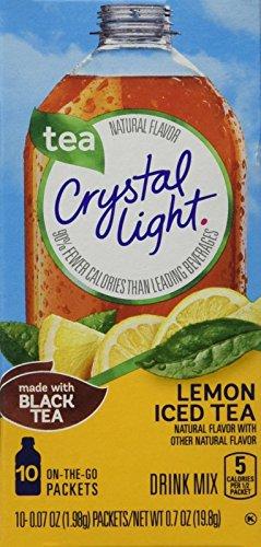 Crystal Light Lemon Iced Tea, 10 On-the-Go Packets (Pack of 4) (Crystal Light Tea Lemon compare prices)