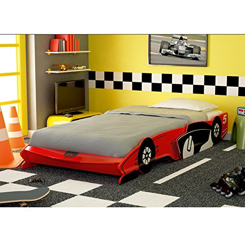roller auto bett turbo rot 90x200 cm. Black Bedroom Furniture Sets. Home Design Ideas