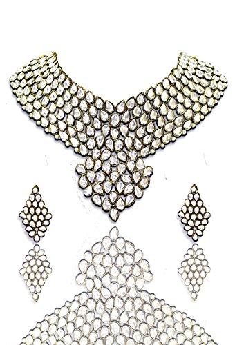Zaveri Pearls Kundan Multi-Colour Choker Necklace With Earrings Set For Women