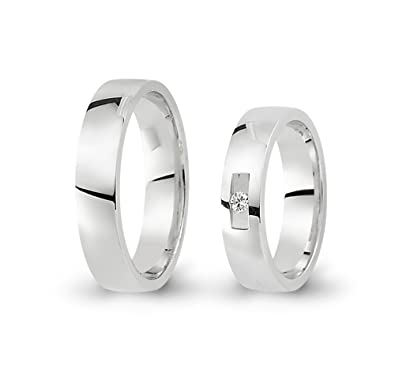 2 Wedding Rings / Friendship Rings 333 White Gold with Zirconia CC3893331