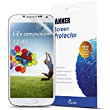 Anker® Screen Protector for Samsung Galaxy S4 [3-Pack] Xtreme Scratch Defender Crystal-Clear High-Response Premium with Lifetime Warranty