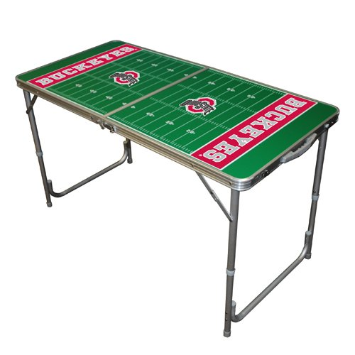 NCAA Ohio State Buckeyes Tailgate Table, 2 x 4-Feet